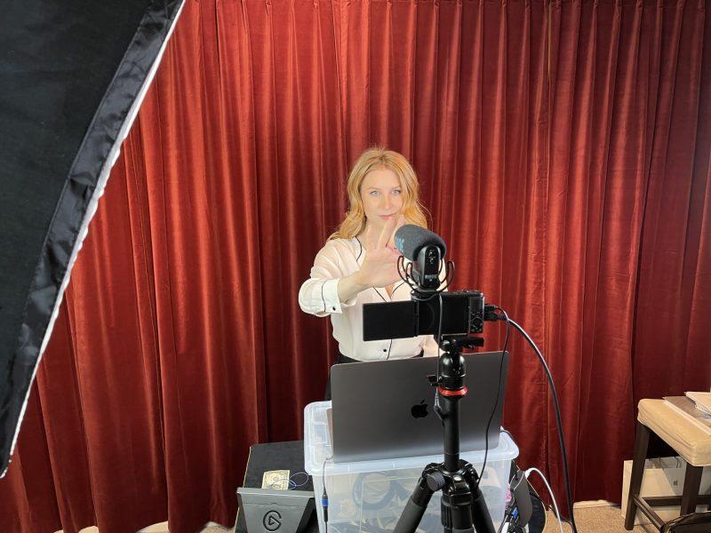Caroline Ravn in action