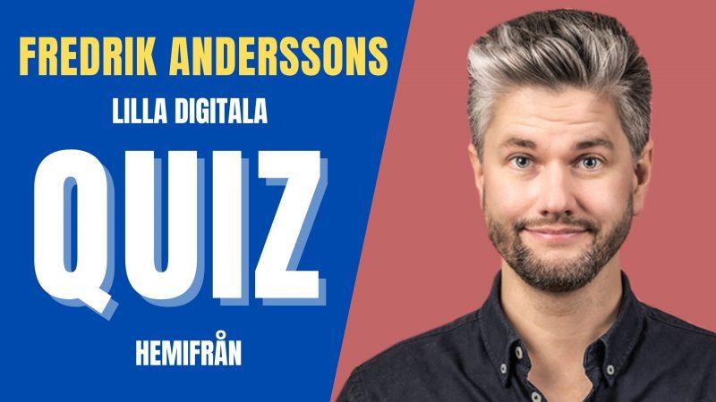 Boka digital aw quiz med Fredrik
